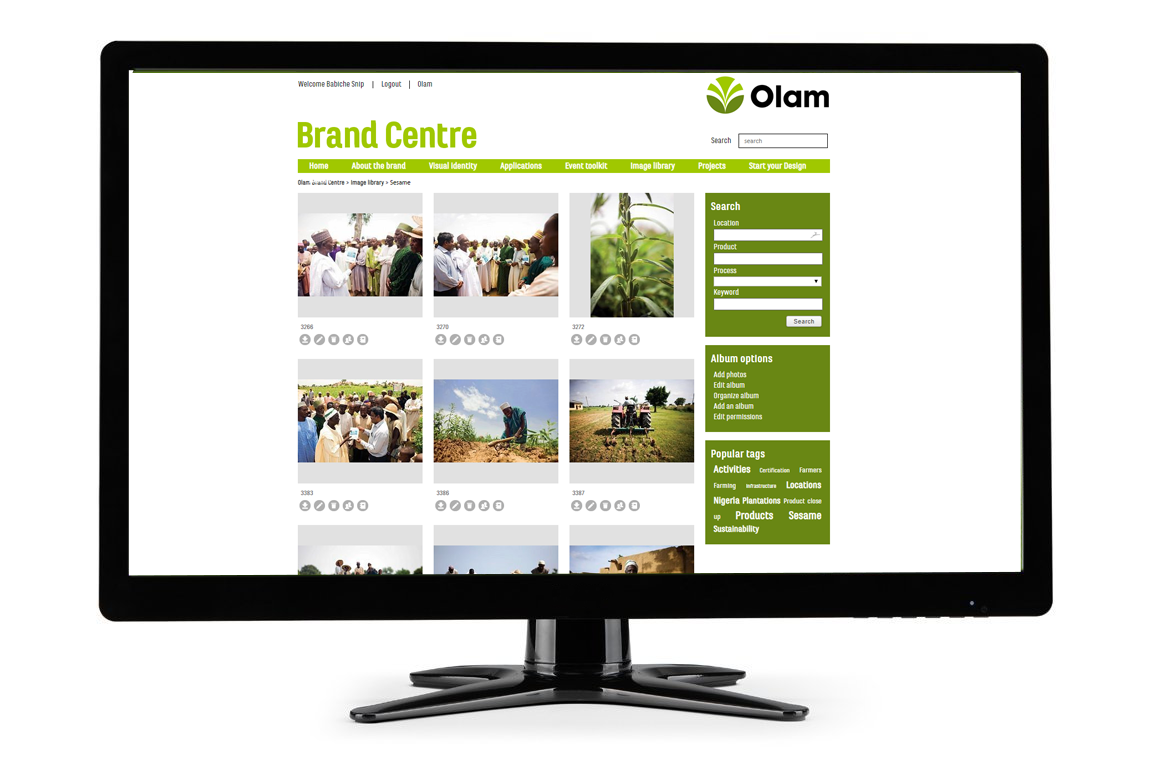 Screenshot CI-Control - image library - olam