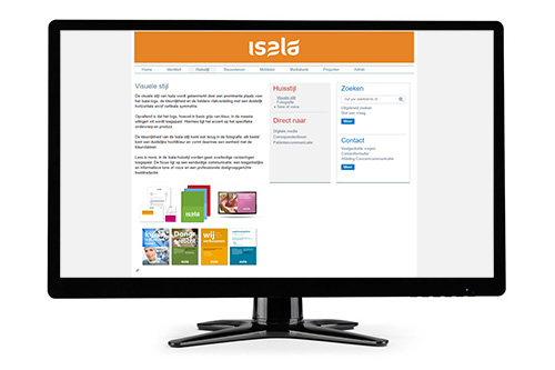 Isala uses CI-Control to manage its new corporate identity and to make guidelines, documents and images available.